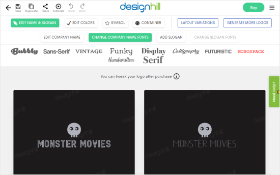Logos created with Designhill for Monster Movies