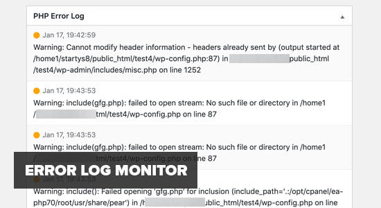 Error Log Monitor