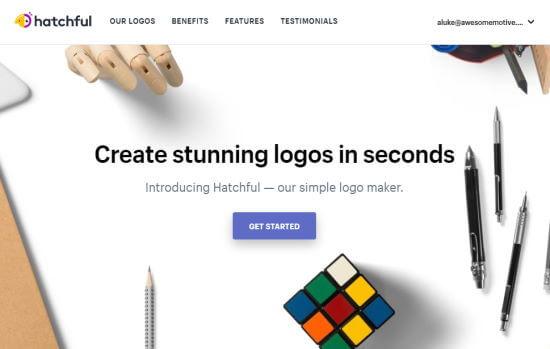 Hatchful's logo maker