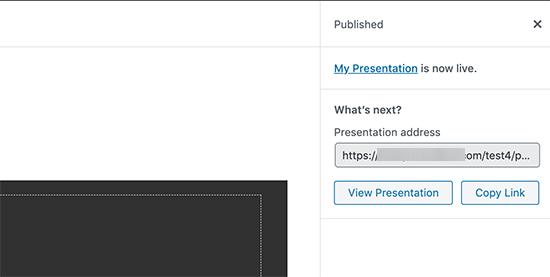Presentation published