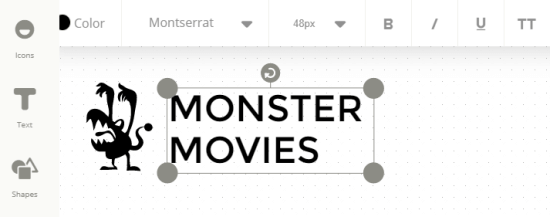 Monster Movies logo created with Ucraft logo maker