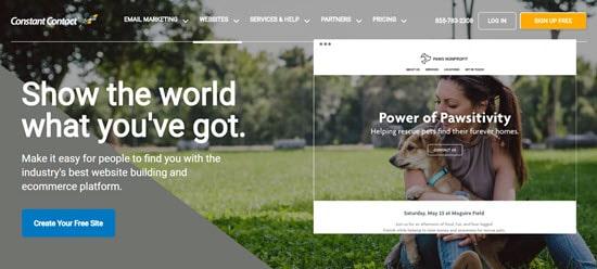 Constant Contact's website builder