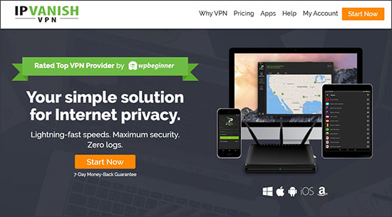 IPVanish website