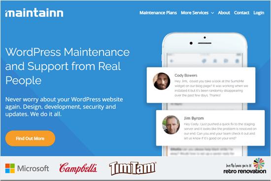 Maintainn's website
