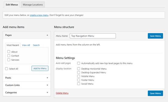 How To Add A Navigation Menu In Wordpress Beginner S Guide