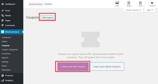 Create a new coupon using the Advanced Coupons plugin
