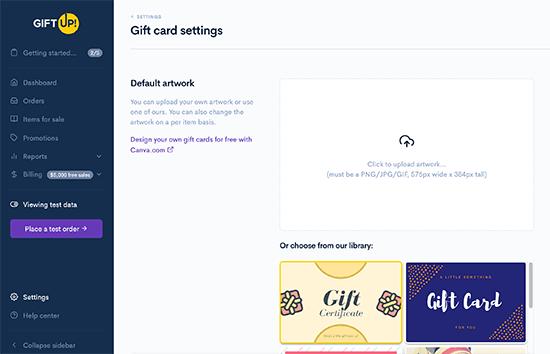 Giftup Designer