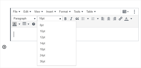 The Classic Paragraph block in the block editor, added by the TinyMCE Advanced plugin