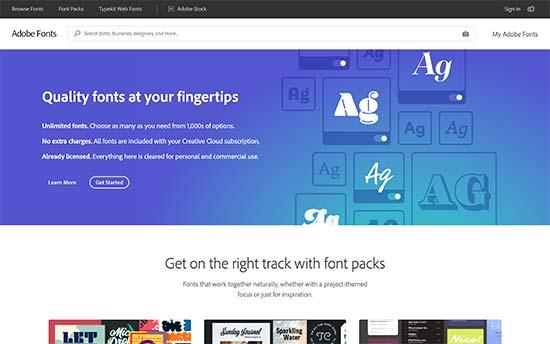 Typekit Adobe Fonts