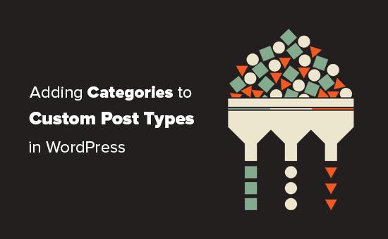 Adding categories to custom post types in WordPress