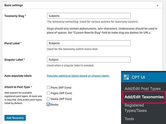 Creatig custom taxonomy using plugin