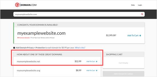 Il dominio .net viene promosso come alternativa a quello .com
