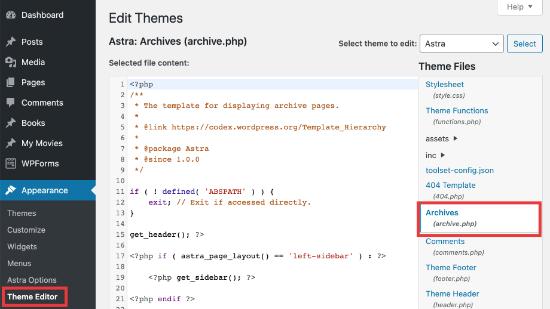 Theme category file editor