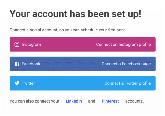 Connect social accounts to Buffer