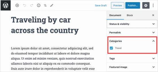 Restrict categories in WordPress editor