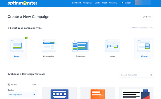 OptinMonster campaigns