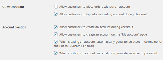 Disallowing the option to checkout as a guest in WooCommerce