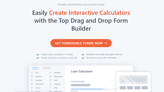 Formidable Forms calculator plugin