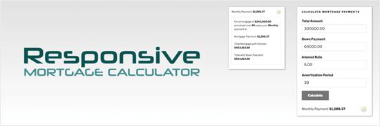 Responsive Mortgage Calculator plugin for WordPress