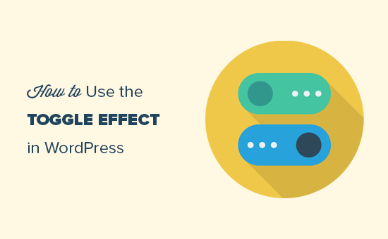 Show or hide text in WordPress using toggle effect