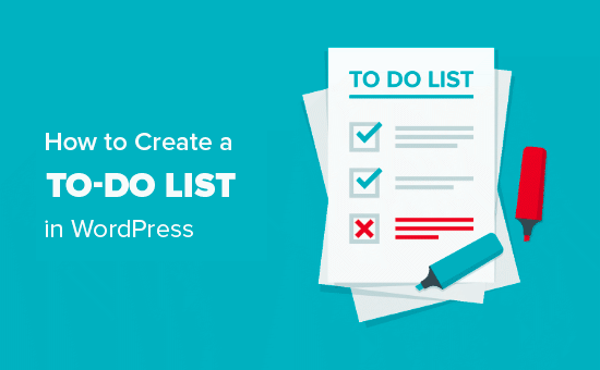 Creating a to do list in WordPress