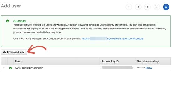 Download Access Keys
