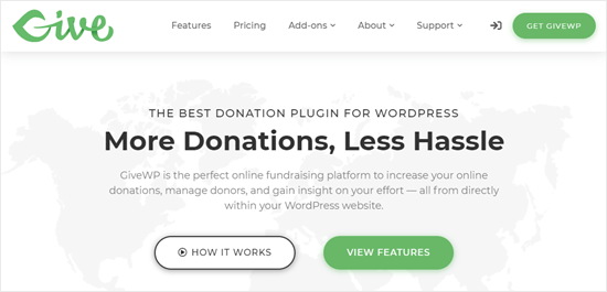 GiveWP website
