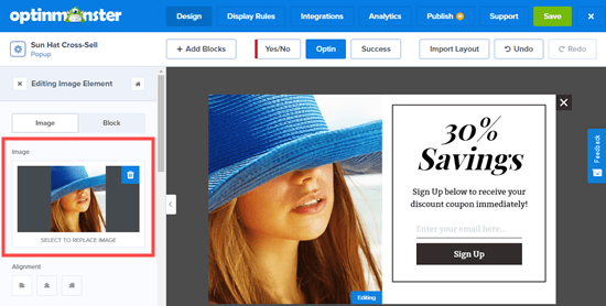 Uploading a different image for the WooCommerce cross sell popup