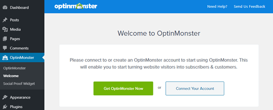 Connecting your OptinMonster account to WordPress