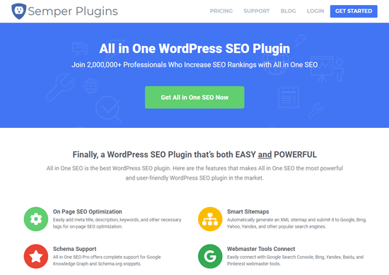 The All in One SEO website