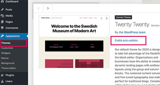 Auto update WordPress theme