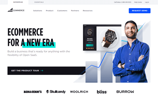 The BigCommerce website