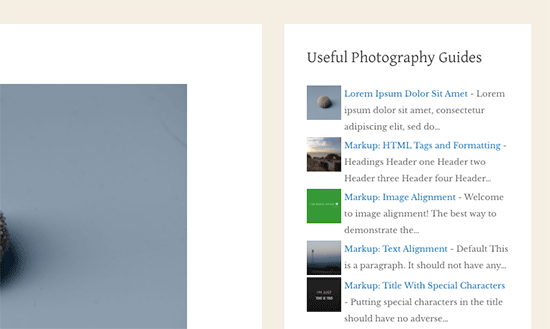 Featured posts with thumbnail and excerpt