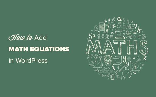 Writing math equations in WordPress