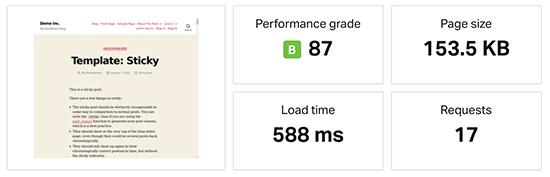 Rocket.net speed test results