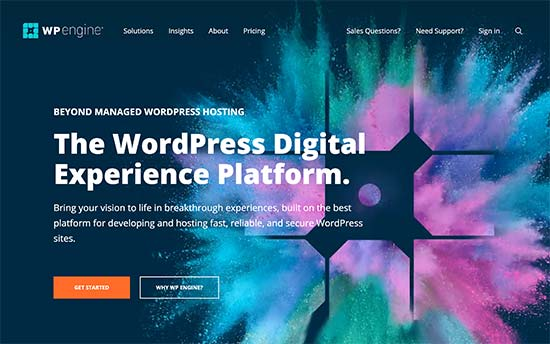 WP Engine is a leading managed WordPress hosting company