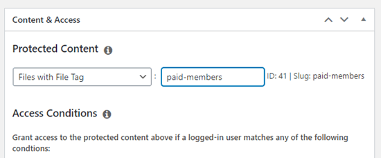 Adding the file tag to your membership rule