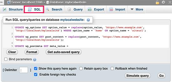 Updating URLs in database