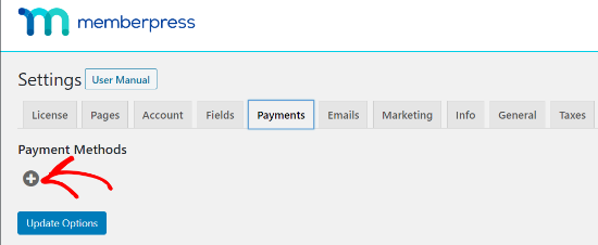 add a new payment method in memberpress