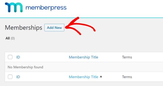add new in memberpress