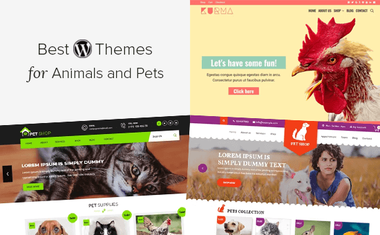 Best WordPress themes for animals and pets