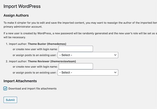 Importing dummy data in WordPress options