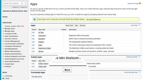 Creating a new Connected App in Salesforce