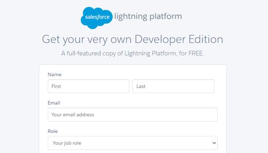 Sign up for a Salesforce account (Developer version)
