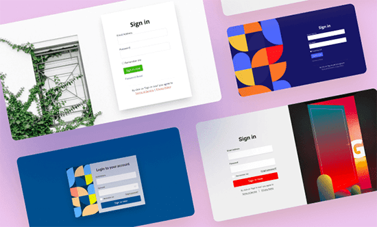SeedProd's Custom Login Page Designs