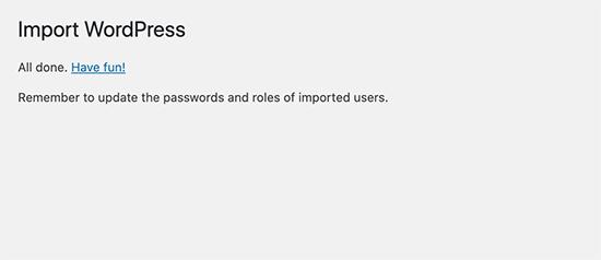 WordPress dummy data generated successfully