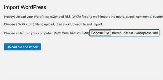 Choose dummy data XML file