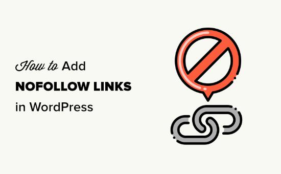 Adding nofollow links in WordPress