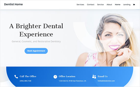 Divi theme for dentists