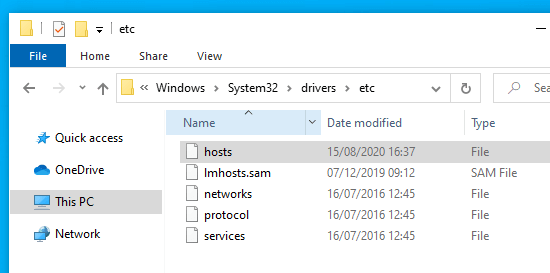 Finding the 'hosts' file on your computer